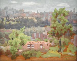 3325_1960   Madrid desde la casa de campo,  32.5 X 41 cm Óleo-Tabla